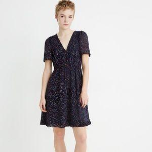 NWT Madewell Flutter-Sleeve Ruffle-Hem Dress  8